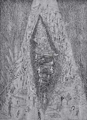 1名称;乌托邦-冷漠尺寸;80x60cm 版画